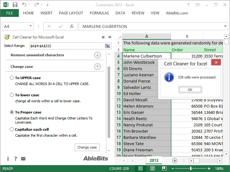 how to change upper case to proper case in word