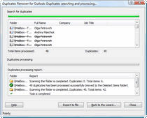 Duplicates Remover for Outlook - remove duplicated contacts, notes, tasks, etc.