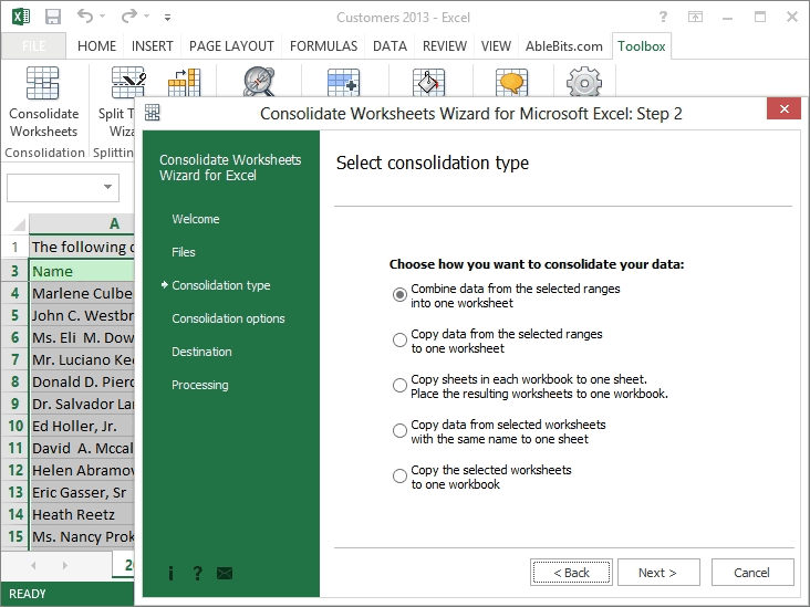 Merge multiple Excel worksheets into one Consolidate Worksheets – Combine Data from Multiple Worksheets