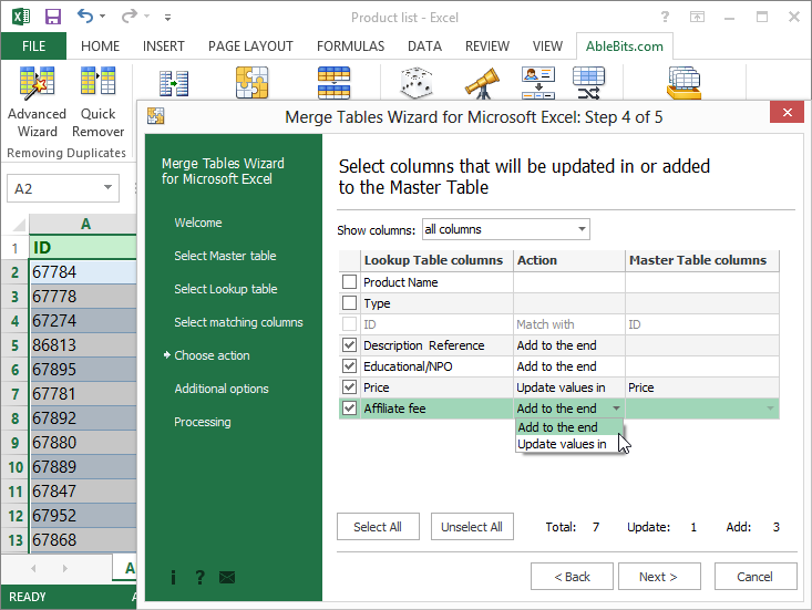 Printables Merge Worksheets In Excel combine matching data from 2 excel worksheets into one in seconds merge tables add columns or update your main table