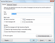 Batched Mail: limit a maximum number of outgoing messages per hour.