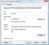 File Send Automatically: autosend changed / updated files via email.