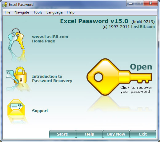 excel 2010 open password recovery