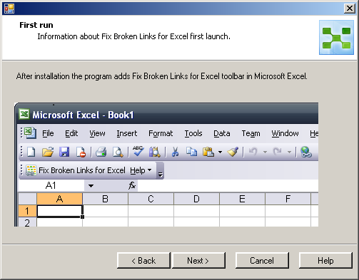 MAPILab Fix Broken Links for Excel: First run