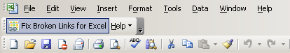 MAPILab Fix Broken Links for Excel: Add-in toolbar