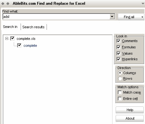How to find Excel cell values, formulas, hyperlinks, comments