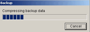 Outlook Backup: Backup progress bar