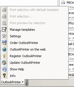 Outlook Printer: Add-in button
