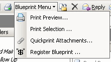 Blueprint 4 Outlook: Add-in menu