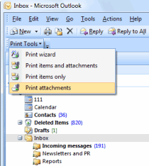 Print Tools plug-in in Microsoft Outlook.