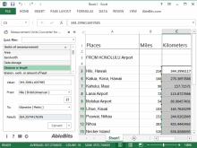 Convert measurement units in Excel easily and quickly.